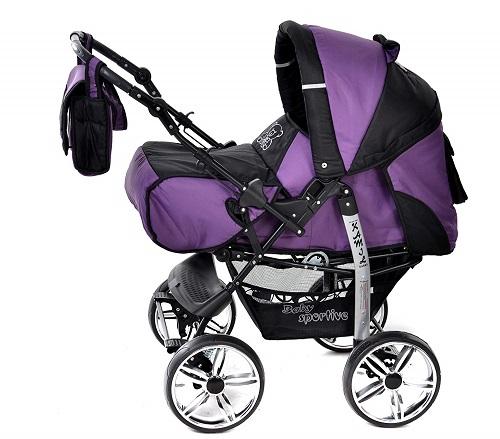 Baby Sportive 3 in 1 viola nero