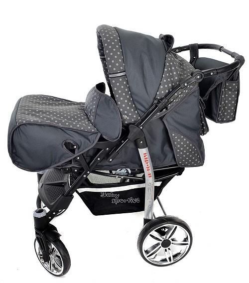 Baby Sportive x2 grigio pois